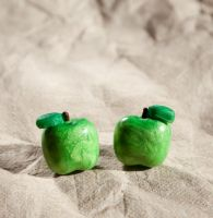 Green Apple Stud Earrings by SweetSugaRush
