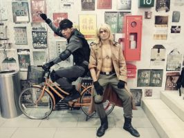 Brotherly Moments (MGS Cosplay, CPF 2013 Event) by riezforester