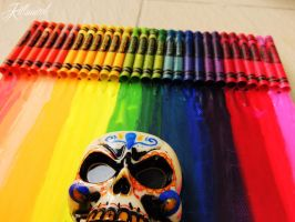 Crayon melting with 3D mexican skull 3 by killswitch90