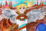 (Not my OC) Angel Caramabel Honeycrisp concept art by Game-Central-Party