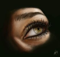 Female eye by NightWish666