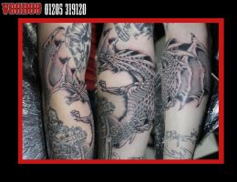 Dragon tattoo by yayzus