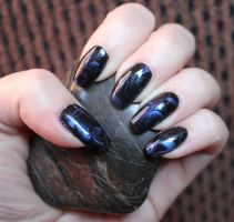 Black and Blue - Marble by M-Everham