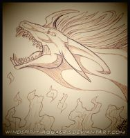 .:: Fire Fury - Sketch ::. by Windspirit-Aquaeris