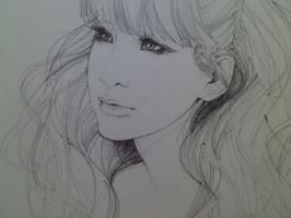 Park Bom-portrait sketch by dreamsCrEaToR