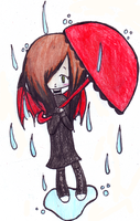 Ella in the rain by SGTCTOINFINITY