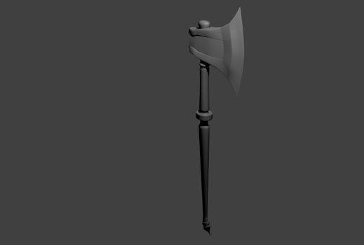 Blender Axe from tutorial by KLForbes