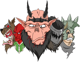 GWAR Cartoon 2010 by TheSoulless