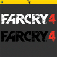 Far Cry 4 Logo In Two Different Colors by RajivCR7