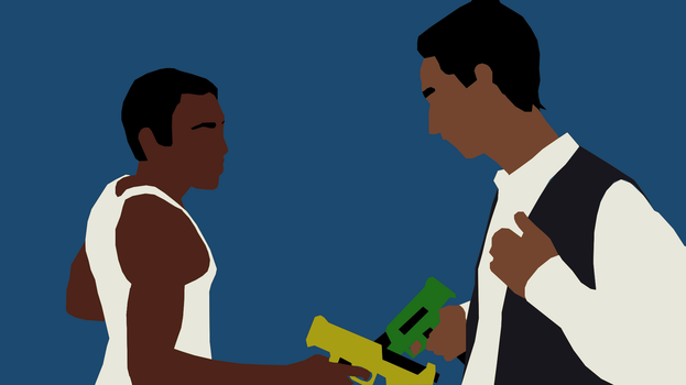 Troy and Abed Minimalist by DamionMauville