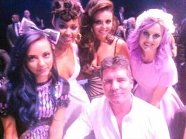 LM with Simon Cowell by LittleMixFans