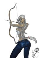 Archer Babe by HappyMorningStar