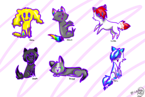 All my Characters in chibi by Pixel-Candy