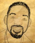 Will Smith text portrait by Joannyta