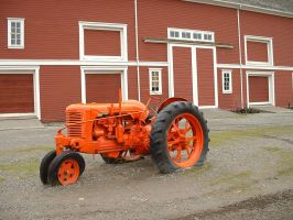 tractor and barn 2 by JensStockCollection