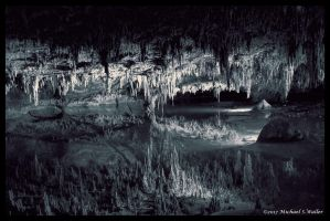 the synthetic awakening - Stalactites In B and W by thsyntheticawakening