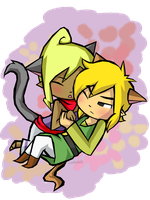 TeLink: Kitty Snuggles by Linkerbell