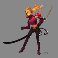 Adventure Knights - Flame Knight Phoebe by Chilimanic