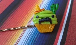 Mexican Cupcake Bobby Pin by Gynecology