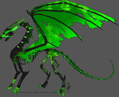 Toxic Skeleton Dragon adopt (Closed) by Dragonrage19