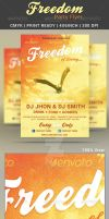 Freedom music party flyer poster template by sktdesigns