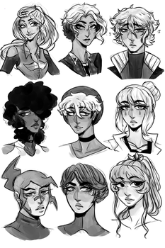 [C-W] Sketchy heads by Twitwoo