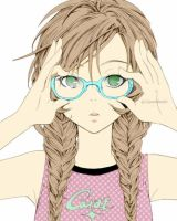 Sweet Girl with glasses :p by GomiiWorld