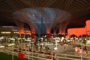 indors of Ferrari world by almahari