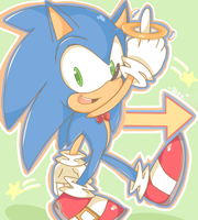 I'm Sonic, Sonic the Hedgehog by chibiirose