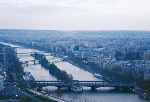 Paris from the Tower by Sparkyredboy