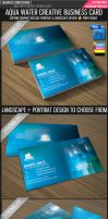 Aqua water business card by Lemongraphic