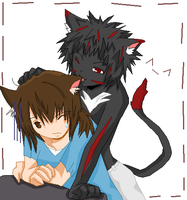 New ID: Me and Leo by ArcherKitteh