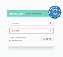 Elegant Login Form PSD Freebie by aayush962