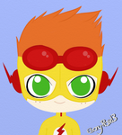 Kid Flash Chibi by Ebony-Rose13