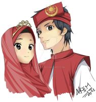 Wedding Anime (Malay Islamic version) by akem92