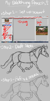 My Sketching Process! by hippiej0e