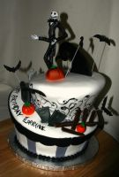 Jack Skellington Cake by meaikoh