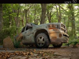 rusty dodge truck by park0toker