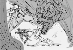 vayne vs shyvana WIP by Artsed