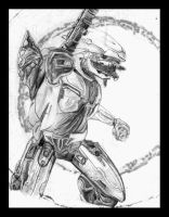 Sangheili Sketch by SangheiliArtist by AzureParagon