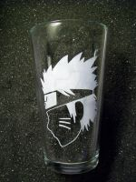 Naruto Uzumaki pint glass by coventrydecor