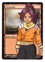 Yoruichi Altered Mountain MTG Land by ke-couture