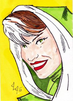 Rogue - ACEO for sale- by Jason-Lee-Johnson