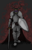 Horned knight by Thylanos
