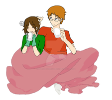 Cozy Liz And Rou by SplendidtheInsaneOne
