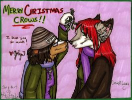 Merry Christmas Crow by silverwing