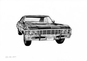 Supernatural Chevy Impala '67 by SelenawithAdream