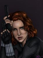 Black Widow Colored by JGiampietro