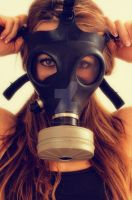 Girl in Gasmask by missourimedic
