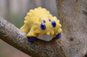 Needle Felted Life Size Shiny Joltik by TheRavensLetters